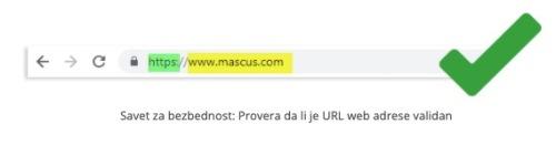 Savjet za sigurnost: Provjerite je li je web URL validan